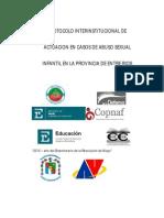 PROTOCOLO INTERINSTITUCIONAL DE ACTUACION EN CASOS DE ABUSO SEXUAL INFANTIL