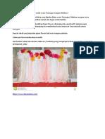 Viral Backdrop Paper Flower Untuk Acara Tunangan Maupun Nikahan