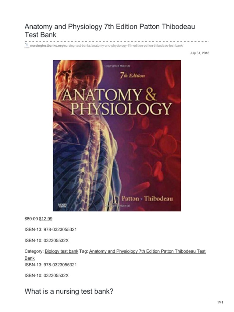 Nursingtestbanks.org-Anatomy and Physiology 7th Edition Patton ...