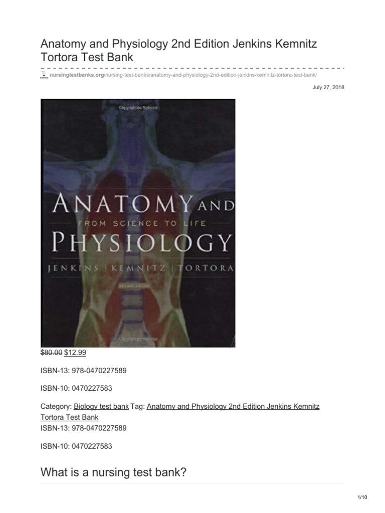 nursingtestbanks.org-Anatomy and Physiology 2nd Edition Jenkins ...