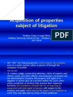 11. Acquisition of Properties Subject of Litigation