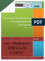 Plan de Monitoreo y Acompañamiento Pedagógico 2017