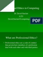 Professional Ethics in Computing