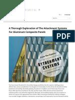 A thorough Explanation of Alucobond System