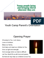 YCamp Parents Orientation