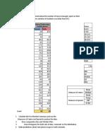 Formative Statistics Task