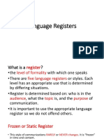 Language Registers
