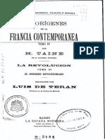 Los orígenes de la Francia contemporánea. El gobierno revolucionario - Hippolyte Taine