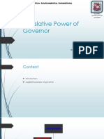 Legislative Power of Governor