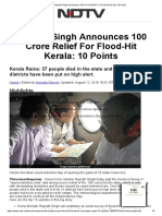 Rajnath Singh Announces 100 Crore Relief for Flood-Hit Kerala_ 10 Points