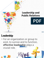 Leadership and Public Relations