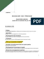 Région Bourgogne-Franche-Comté- DP de l'AP Du 29 Et 30 Juin 2017