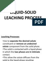 Liquid Solid Leaching