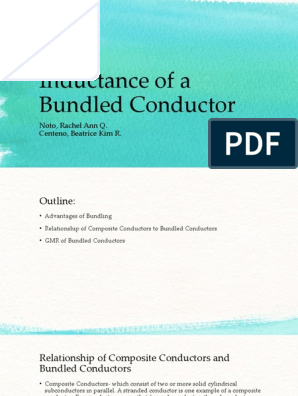 Report 5 Inductance of a Bundled Conductor | Inductance
