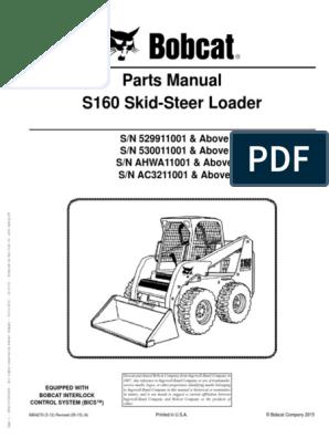 Parts Manual S160 Skid-Steer Loader