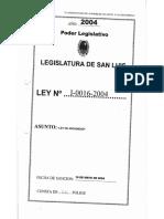 Legajo Ley I-0016-2004