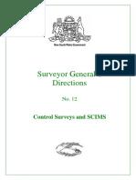 5 IV NSW SGDIR12 Control Surveys and SCIMS Ver2012