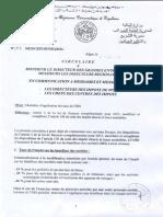 Circulaire sur le taux d'IBS en Algérie