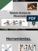 TECNICAS DE MECANIZADO.3° medio 2016