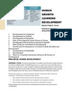 Human Growth Learning Development (Original)