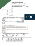 Prueba de Matemática Ecuaciones