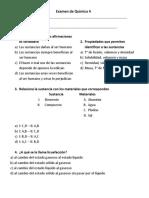 Examen de Química 3