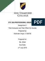 AssignmentSTC305_ComputerandTheirEffectOnSociety