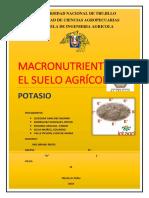 Macronutrientes en El Suelo Agrícola POTASIO (1)