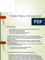 1. Public Policy an Introduction