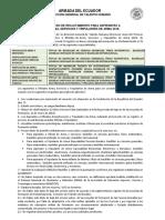 Prospecto Del Proceso de Reclutamiento Arma-servicios 2018