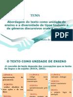 GENEROS TEXTUAIS E ENSINO   PROFª CÉLIA Mª DE MEDEIROS.pptx