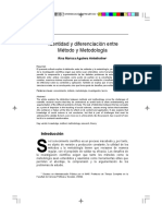 Identidad y Diferenciacion Entre Metodo y Metodologia