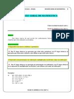Revisão Geral de Matemática