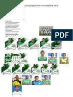 Nomina de Club Deportivo Dragón 2018