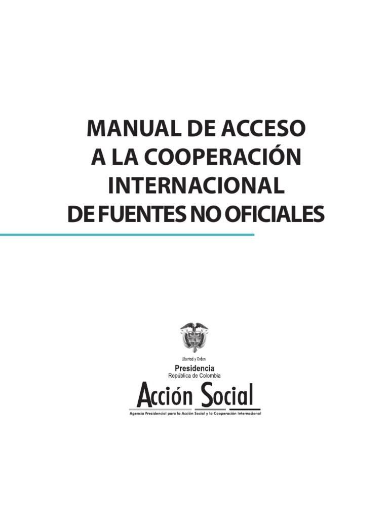 992 Manual de Acceso a La Cooperaci%C3%B3n ONG