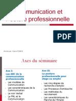 Communication Et Posture Professionnelle M1AE
