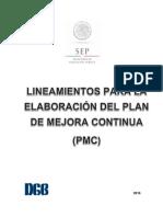 Lineamientos para elaborar el PMC
