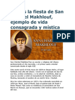 Hoy Es La Fiesta de San Chárbel Makhlouf