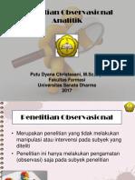 Observasional Analitik Dan Cross Sectional
