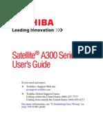 Toshiba Satellite A300 User Guide