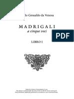 madrigals - gesualdo book I