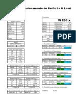 Dimensionamento de Perfis Metálicos NBR880 08