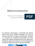 Reforma Constitucional 2a Clase de Derecho Procesal Penal