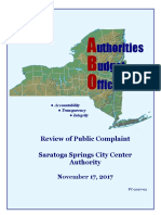 ABO Final Report on the Saratoga Springs City Center