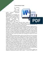 Reseña Histórica de Microsoft Word
