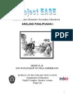 EASE Modyul 12- Ang Pananakop Ng Mga Amerikano