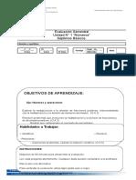 Evaluación semestral 7 basico