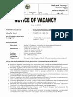 Notice of Vacancy EPS SG22