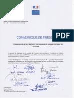 CP - Groupe de dialogue chemin de l'avenir - Réunion du 10 août