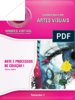 Arte e Processos de Criação I